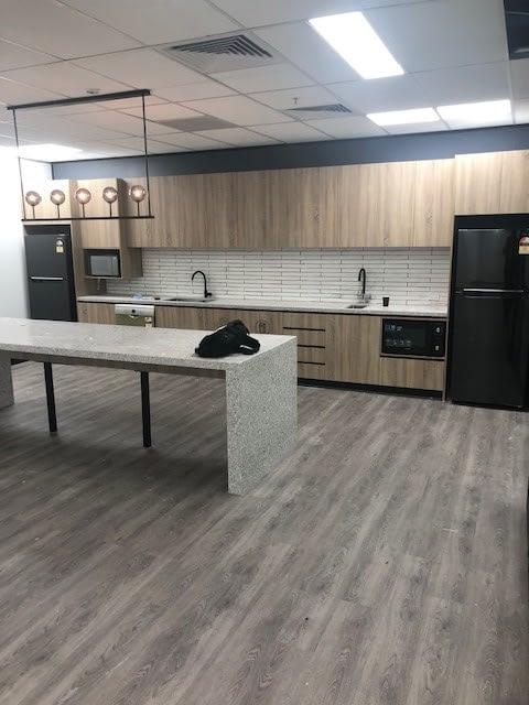breakout area office kitchen